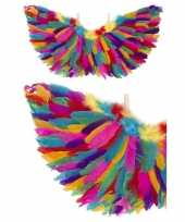 Carnavalskleding engel verkleed vleugels regenboog veren arnhem