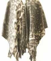 Carnavalskleding fleece poncho panter print arnhem