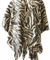 Carnavalskleding fleece poncho zebra print arnhem