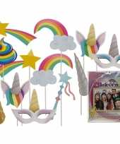 Carnavalskleding foto prop set eenhoorns stuks arnhem