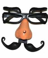 Carnavalskleding fun bril neus wenkbrauwen arnhem