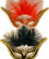 Carnavalskleding gala oogmasker veertjes arnhem