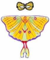 Carnavalskleding gele komeetstaart vlinder verkleedset meisjes arnhem