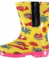 Carnavalskleding gele peuter regenlaarzen zeedieren arnhem