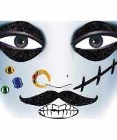 Carnavalskleding gezicht stickers piraat vel arnhem