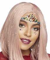 Carnavalskleding gezichtsjuwelen exotische prinses verkleedset zelfklevend arnhem