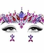 Carnavalskleding gezichtsjuwelen prinses verkleed sticker set zelfklevend arnhem