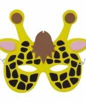 Carnavalskleding giraf foam masker kinderen arnhem