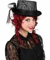 Carnavalskleding gothic hoge hoed kant arnhem