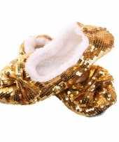 Carnavalskleding gouden bling pantoffels dames arnhem
