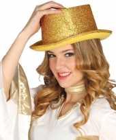 Carnavalskleding gouden glitter hoge hoed volwassenen arnhem