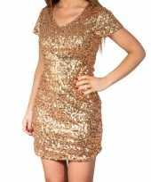 Carnavalskleding gouden glitter pailletten disco jurkje dames arnhem