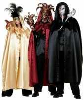 Carnavalskleding gouden satijnen cape volwassenen arnhem