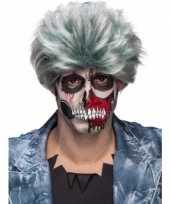 Carnavalskleding grijze zombiepruik heren arnhem
