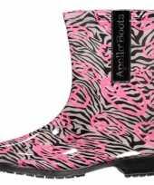 Carnavalskleding halfhoge dames regenlaarzen zebra arnhem
