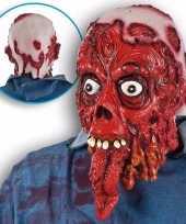 Carnavalskleding halloween bloederig masker lange tong arnhem