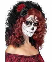 Carnavalskleding halloween day of the dead pruik roos arnhem