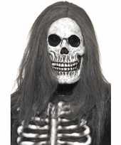 Carnavalskleding halloween doodshoofd masker haar arnhem