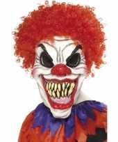 Carnavalskleding halloween eng clown masker haar arnhem