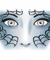 Carnavalskleding halloween gezicht stickers spinnenweb vel arnhem