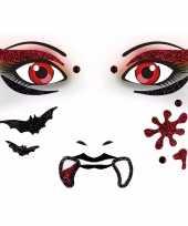 Carnavalskleding halloween gezicht stickers vampier vel arnhem