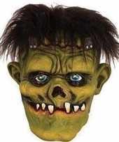 Carnavalskleding halloween groen eng halloween frankenstein masker latex arnhem