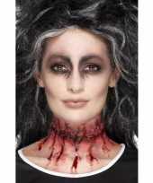 Carnavalskleding halloween latex gehechte nepwond nek arnhem
