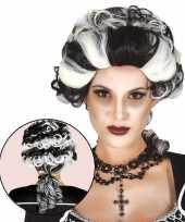 Carnavalskleding halloween markies vampier dracula damespruik arnhem