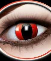 Carnavalskleding halloween party lenzen rode katten ogen arnhem
