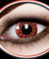 Carnavalskleding halloween party lenzen spinnenweb rood arnhem