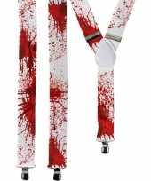 Carnavalskleding halloween witte bretels bloedvlekken volwassenen arnhem
