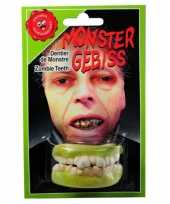 Carnavalskleding halloween zombie gebitje boven onder tanden arnhem