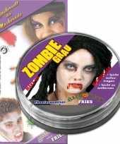 Carnavalskleding halloween zombie schmink grijs arnhem