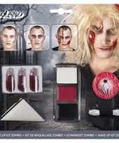 Carnavalskleding halloween zombie schminkset bloed capsules arnhem