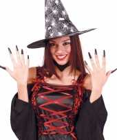 Carnavalskleding halloween zwarte lange kunstnagels arnhem