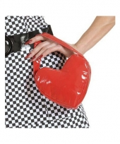 Carnavalskleding hartvormig handtasje rood arnhem