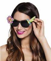 Carnavalskleding hawaii zonnebril zwart arnhem