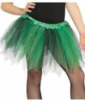 Carnavalskleding heksen verkleed petticoat tutu groen zwart glitters meisjes arnhem