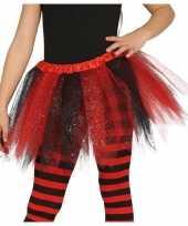 Carnavalskleding heksen verkleed petticoat tutu zwart rood glitters meisjes arnhem