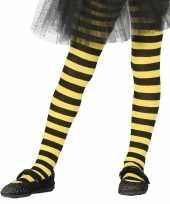 Carnavalskleding heksen verkleedaccessoires panty maillot zwart geel meisjes arnhem