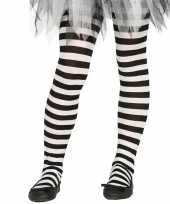 Carnavalskleding heksen verkleedaccessoires panty maillot zwart wit meisjes arnhem