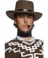 Carnavalskleding heren cowboy hoed bruin arnhem