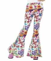 Carnavalskleding hippie broek wit love dames arnhem
