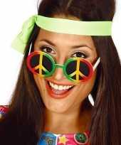 Carnavalskleding hippie flower power peace verkleed bril arnhem