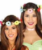 Carnavalskleding hippie flower power verkleed bloemen hoofd krans dames arnhem
