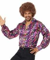 Carnavalskleding hippie peace overhemd heren arnhem