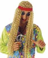 Carnavalskleding hippie pruik hoofdband arnhem