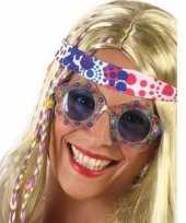 Carnavalskleding hippie verkleed bril blauwe glazen volwassenen arnhem