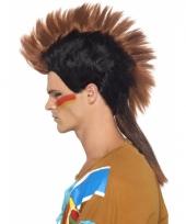 Carnavalskleding indianen heren pruik hanekam arnhem
