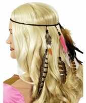 Carnavalskleding indianen hoofdband veren arnhem 10079572